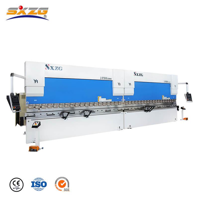 2xPBH-110T/4000MM Tandem CNC Press Bending Brake with DA53T Controller