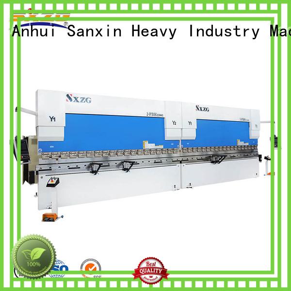 SXZG press brake tonnage chart manufacturers for bending a metal sheet