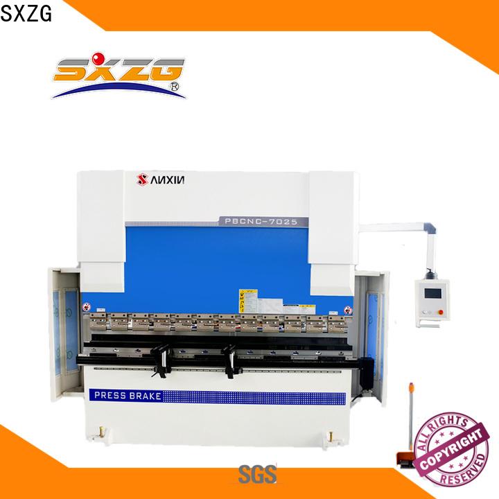 SXZG Best hydraulic press brake machine price suppliers for bending a metal sheet