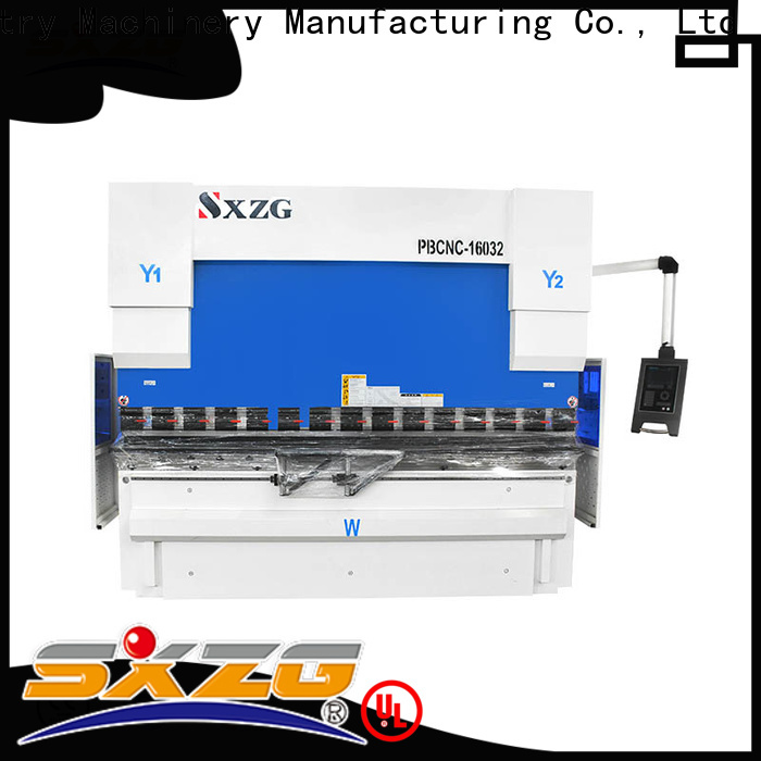 SXZG New hydraulic press brake bending machine suppliers for bending a metal plate