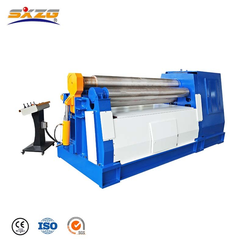 Four Roller Cone Aluminium Sheet Rolling Machine For Small Diameter W12NC-10x3200