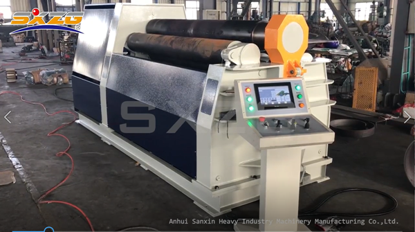 CNC Four Roller Metal Sheet Plate Rolling Machine