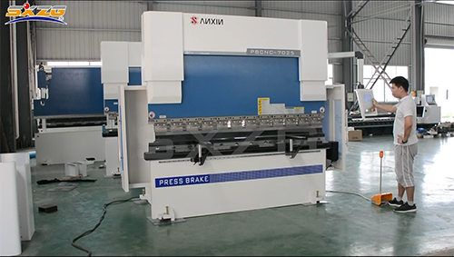 PBCNC-70T2500MM Small CNC Stainless Steel Plate Bender with CT8 Controller 4+1 Axis