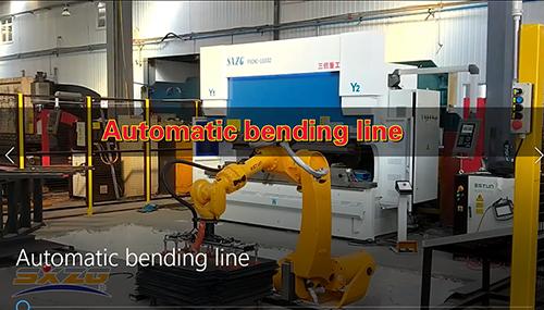 DA52S SYSTEM CNC STEEL BENDING MACHINE LINE WITH ROBOT